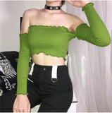 Sexy Strapless Bandage Crop Top