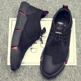 NEW brand 'all Black' Men's leather LG-11 shoes