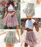 High polka dot mini skirt ruffled