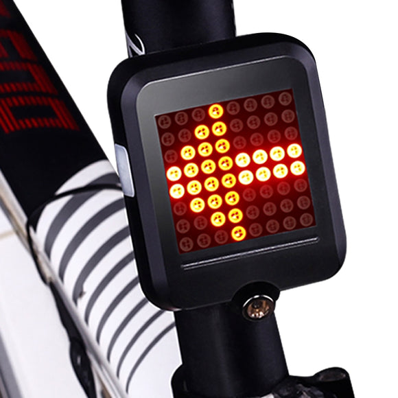 INBIKE Bike Light  bisiklet Automatic Direction Indicator Tail-light USB Charging Mountain Bicycle Safety Warning Light