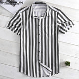 Striped Men's Shirt with short Sleeves