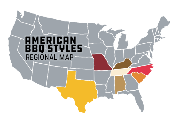 Signature American BBQ Styles by Region