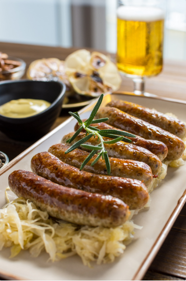 World Famous Brats and Sauerkraut
