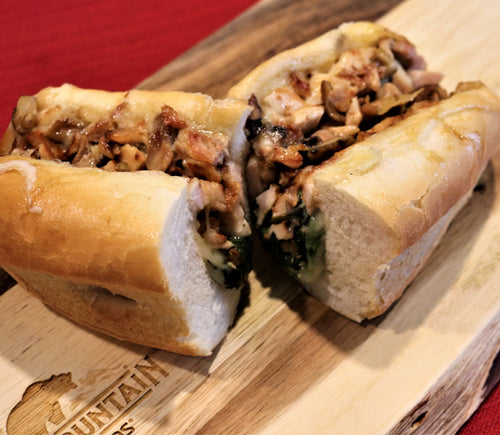 Smoked Chicken Cheesesteak