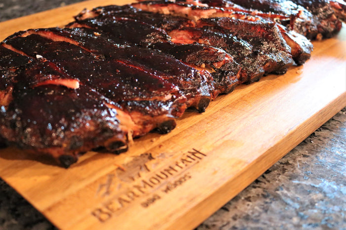 Blueberry Bourbon Glazed Ribs