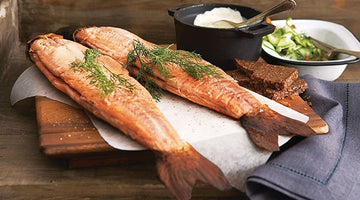 Smoked Trout with Garlic Dill Butter