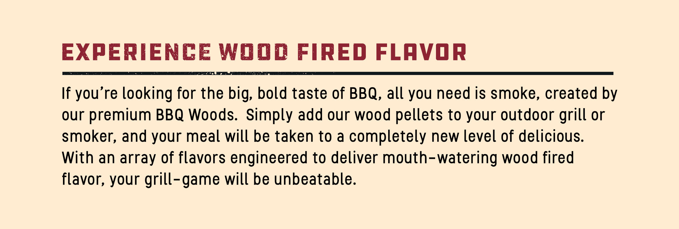 Wood Fired Flavor