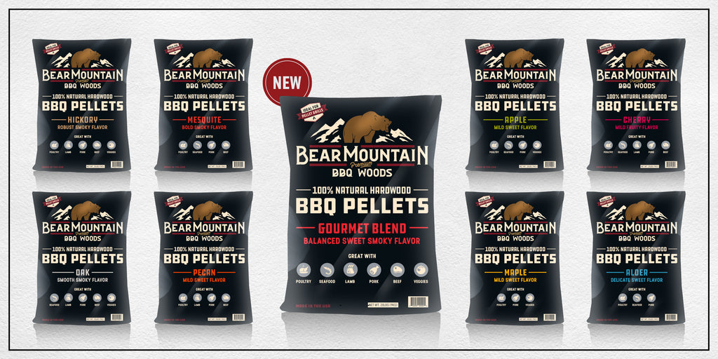 Bear Mountain BBQ Woods - Try all our all-natural wood pellet flavors