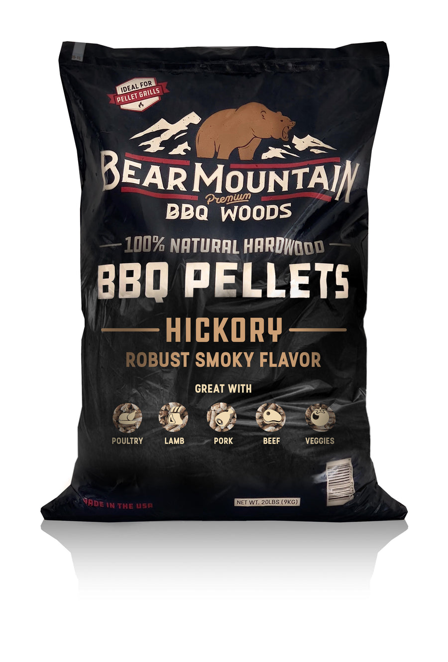 Bear Mountain BBQ Wood Pellets Hickory