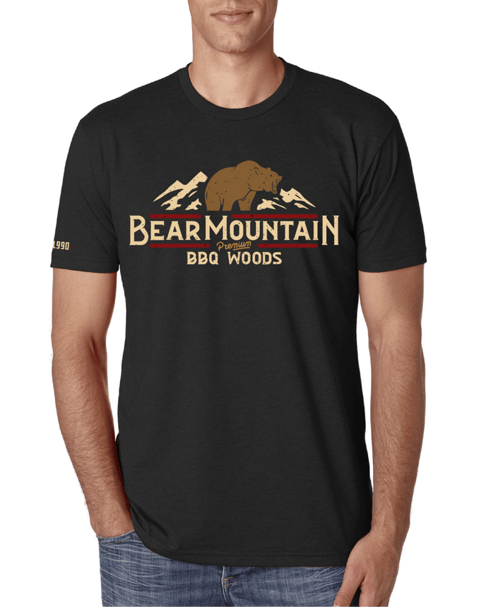 Bear Mountain BBQ Black T-Shirt - Front