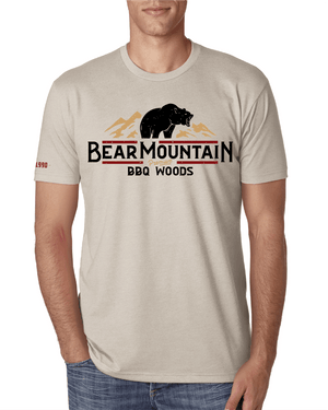 Bear Mountain BBQ Tan T-Shirt - Front