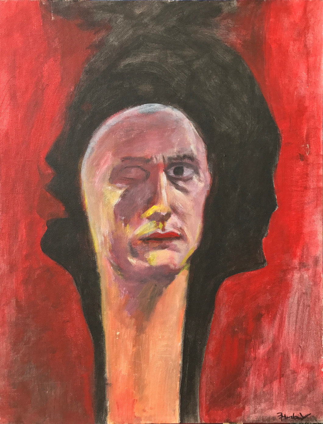 Self Portrait with Long Neck. 1988.