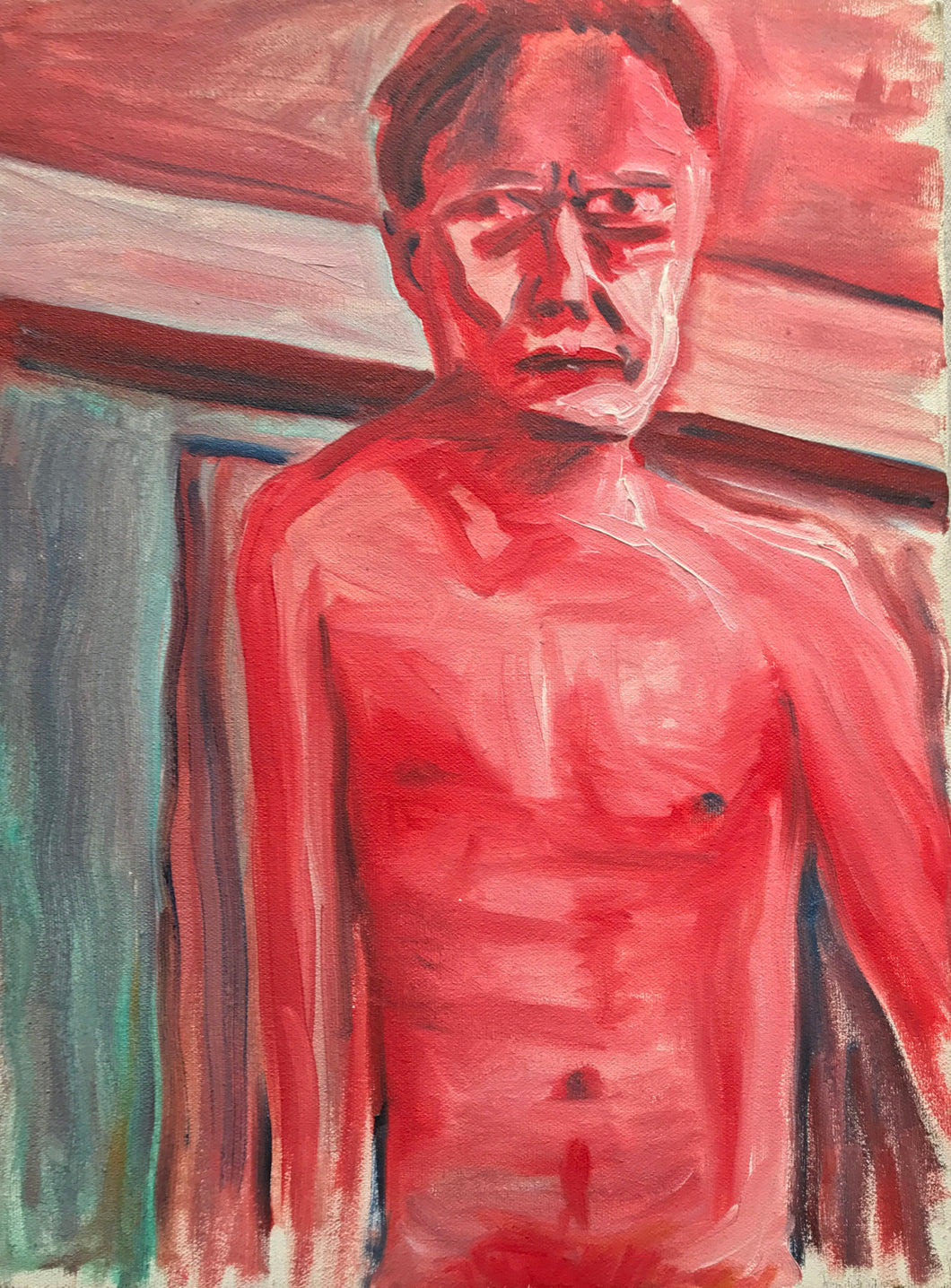 Self Portrait Angry and Drunk 1992