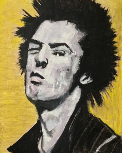 Sid Vicious - Sex Pistols Original Portrait