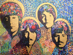 The Beatles - Original Collage / Painting