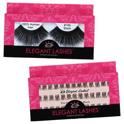 Elegant Lashes 100% Natural Human Hair wholesale retail packaging