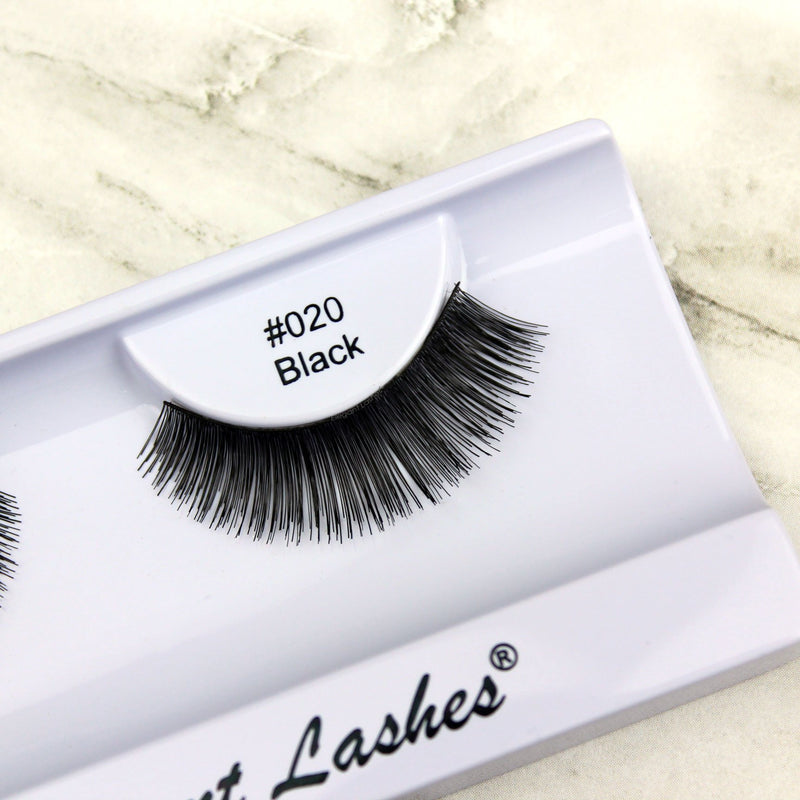 Elegant Lashes #020 Brown 100% Natural Human Hair False Eyelashes Triple Pack (3 pairs multipack)