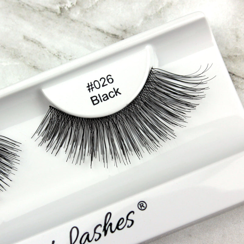 Elegant Lashes #026 Black fluffy long false eyelashes