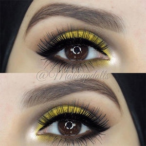 @makeupdolls wearing Elegant Lashes #045 Black Human Hair False Eyelashes