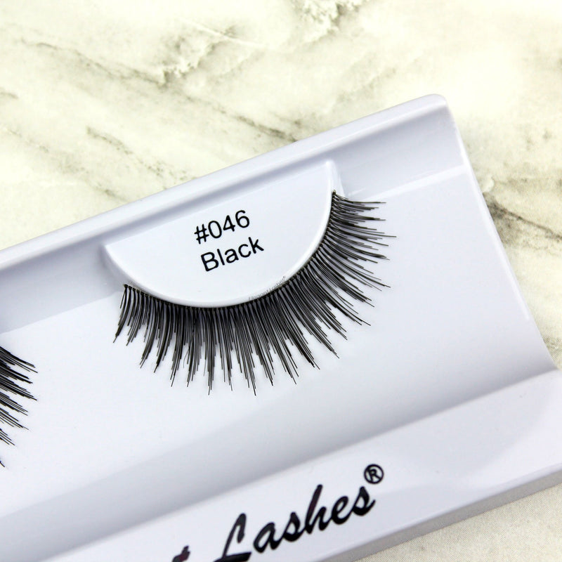 Elegant Lashes #046 Black Human Hair False Eyelashes
