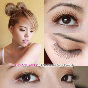 Sunny wearing Elegant Lashes #046 Brown Human Hair False Eyelashes
