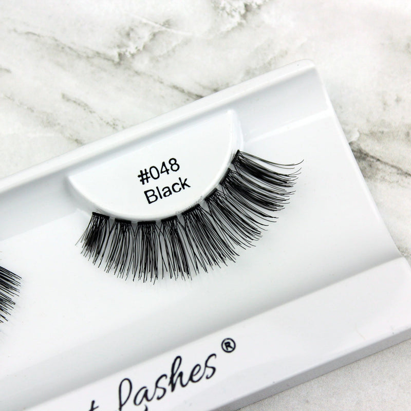Glamorous 100% Natural Human Hair Lashes | Elegant Lashes #048 Black