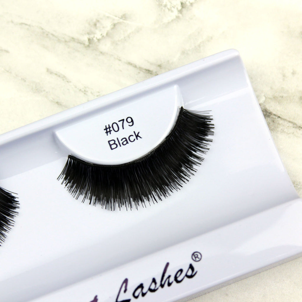 Elegant Lashes 079 thick dramatic black brown lashes for dancers cheerleaders