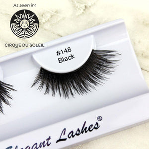 premium 3d flared bulk false eyelashes 100% natural human hair  | Elegant Lashes #148 Black