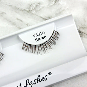 501 Brown under bottom lower false eyelashes
