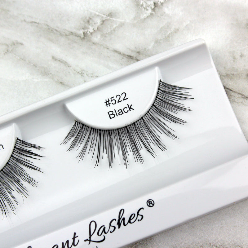 Elegant Lashes #522 Black human hair wholesale bulk false eyelashes