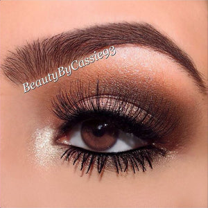 @BeautyByCassie93 wearing Elegant Lashes #747M Black false eyelashes