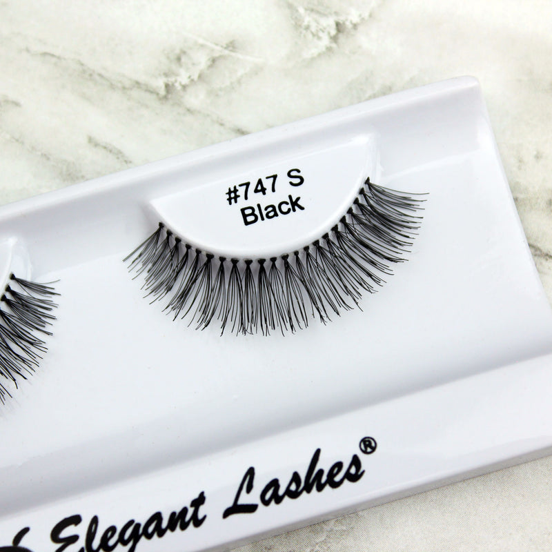 @makeupdolls wearing Elegant Lashes #747S Black false eyelashes