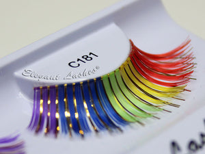 C181 Rainbow & Gold Mix Carnival Color Lash