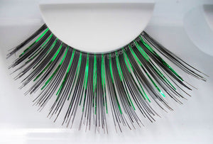 C847 Green Metallic Mix Carnival Color Drag Lashes