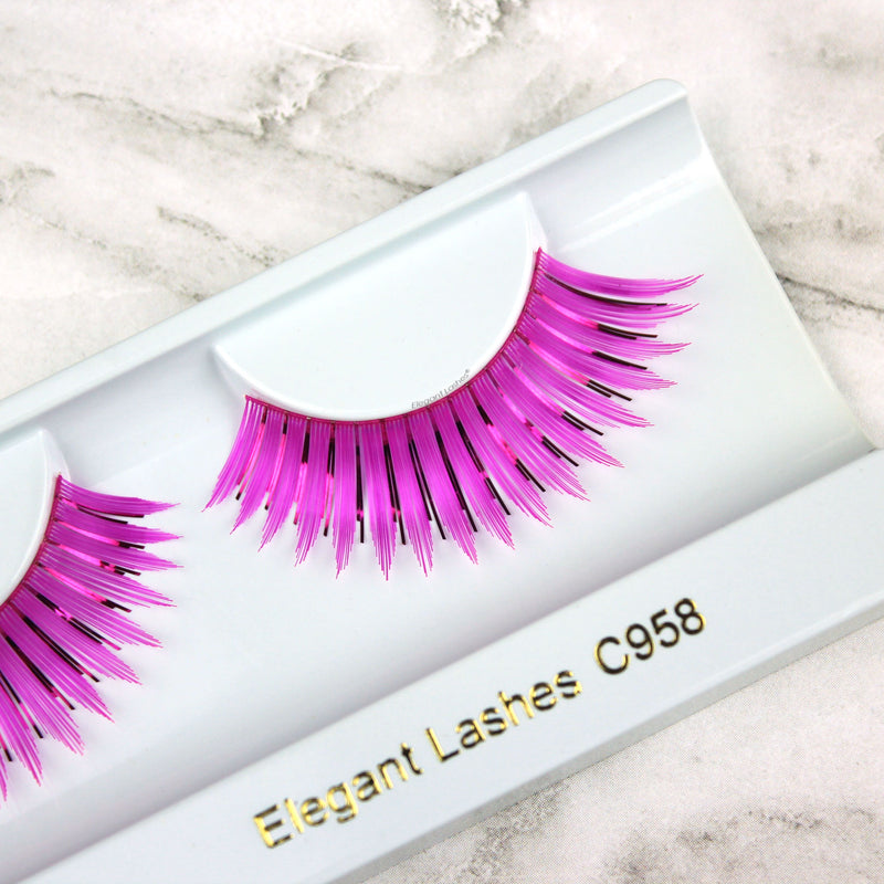 C958 Fuchsia & Metallic Carnival Color Lash