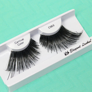 C969 Shiny Black Vinyl Carnival Color Drag Lashes