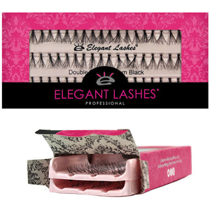 Elegant Lashes Double Flare X-Short, Short, Medium, Long Black | Double Pack 2-pair multi-pair individual lashes