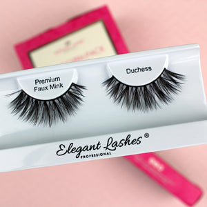 Cruelty-free vegan faux mink false eyelashes | Elegant Lashes Duchess