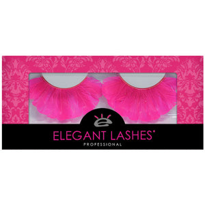 round pink feather eyelashes | Elegant Lashes F132