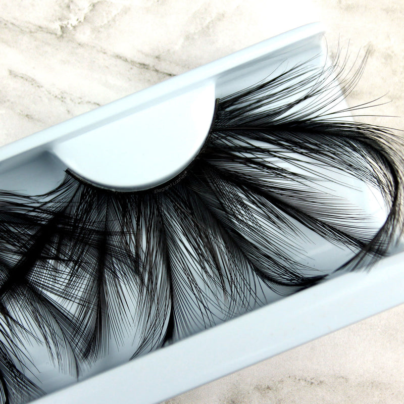 Elegant Lashes bulk jumbo feather lashes - wholesale multi-pack packaging bulk false eyelashes