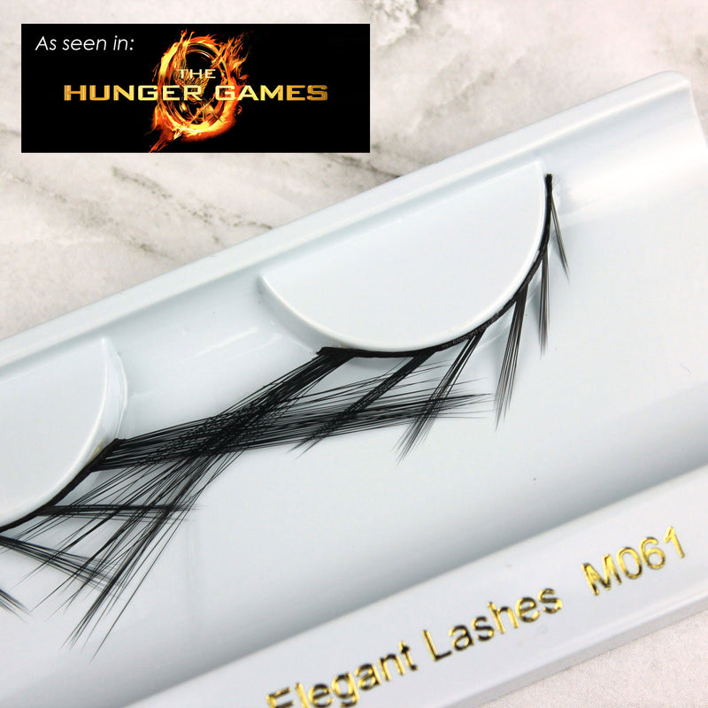 Bold long statement bottom under lower false eyelashes as seen in The Hunger Games  | Elegant Lashes M061