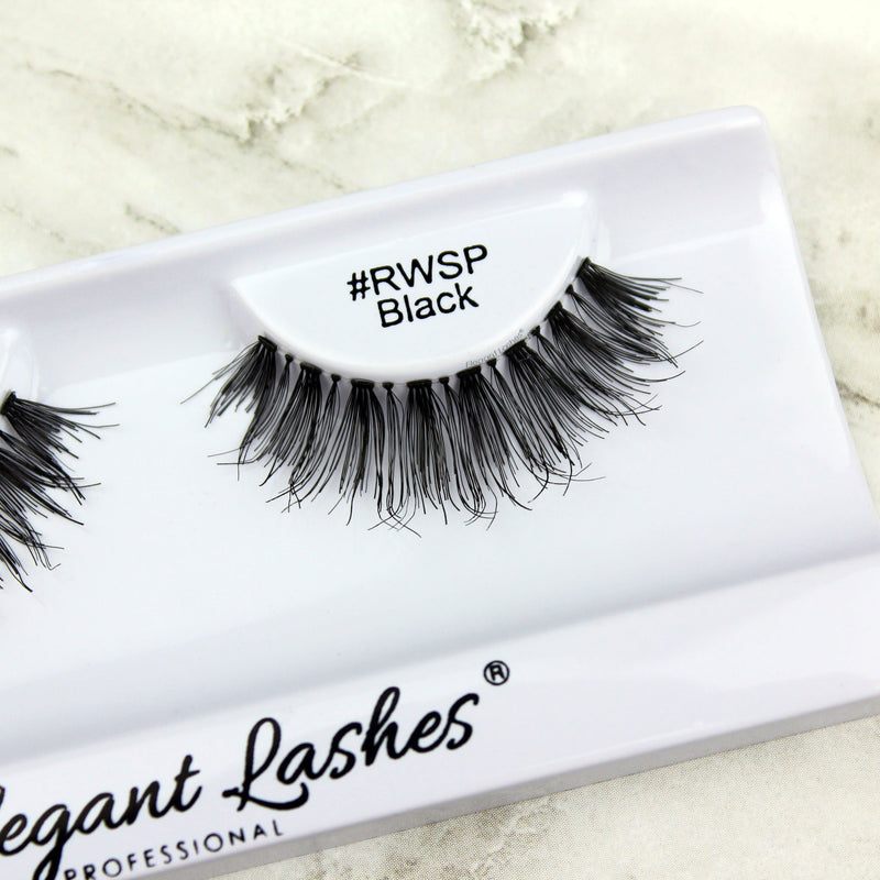Best wispy lashes | Elegant Lashes #RWSP Black bulk 100% Natural Human Hair False Eyelashes