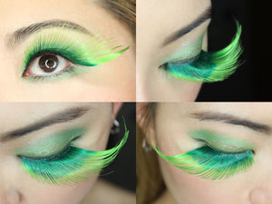 Green drag Halloween Lashes | Elegant Lashes W581 Shamrock (st. patrick's day eyelashes)