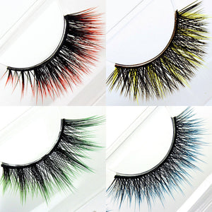harry potter vegan cruelty-free synthetic eyelashes red yellow green blue ombre lashes | Witches & Wizards Collection by Elegant Lashes