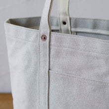 Load image into Gallery viewer, Thick Chambray Canvas Tote M