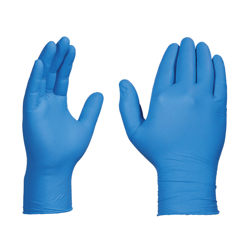 XUNPF - X3 Ultra Blue Industrial Nitrile Disposable Gloves, 2.5 mil, Latex Free, Powder Free, Textured