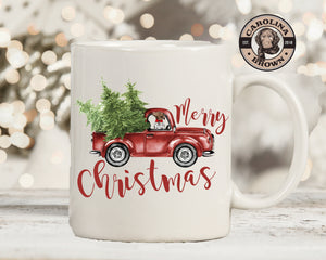 GSP Old Truck Christmas Coffee Mug