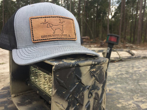 CB Grey/Black Leather Patch Hat