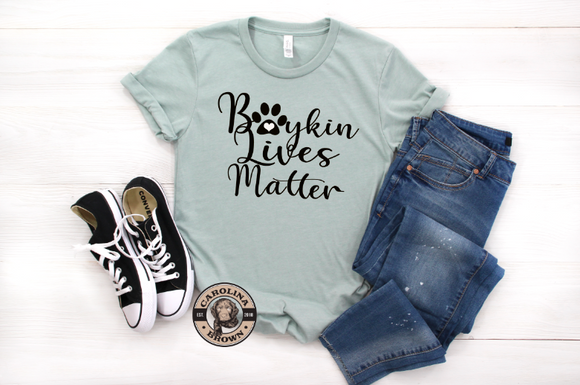 boykin spaniel dusty blue t-shirt
