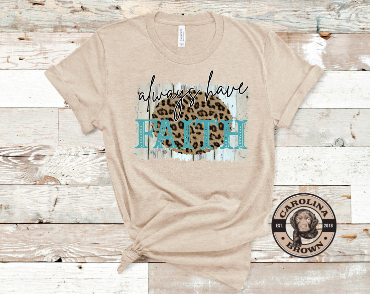 faith tan t-shirt